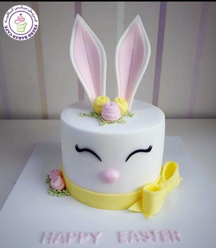 Cake - Rabbit - 2D Cake - Fondant 05