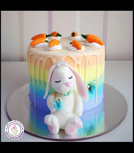 Rabbit Themed Cake - Hungry Bunny
