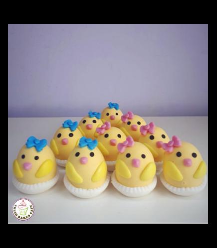 Chick Themed Cake Pops w/o Sticks