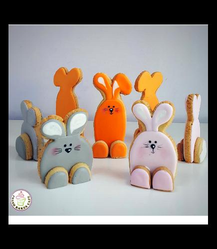 Rabbit Themed Cookies - 3D Cookies 01