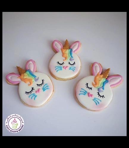 Rabbit Themed Cookies - Unicorn 02a