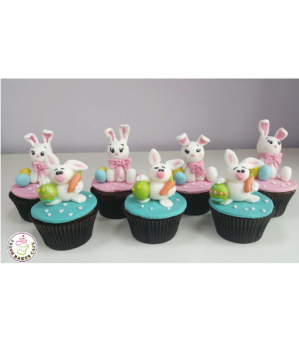 Cupcakes - Rabbits - 3D Toppers 01