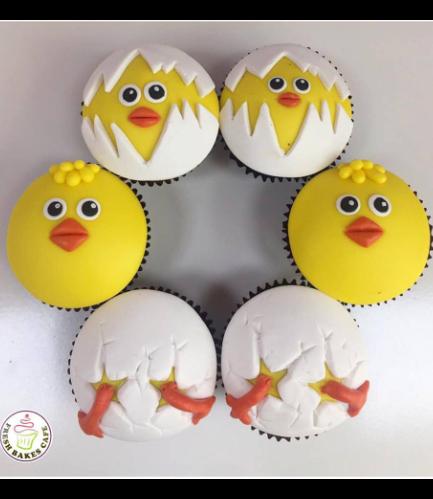 Chicks Themed Cupcakes 02