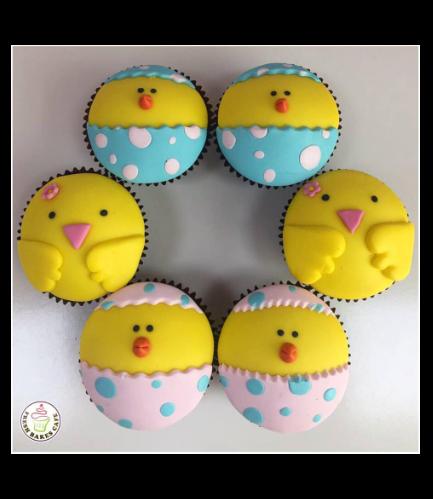 Chicks Themed Cupcakes 01