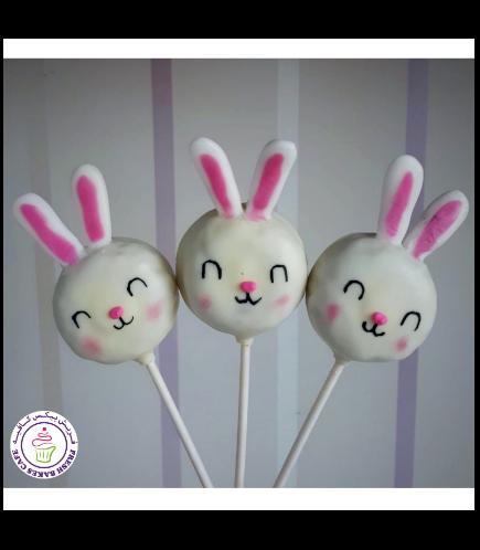 Easter Themed Donut Pops - Rabbits
