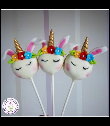 Rabbit Themed Donut Pops - Unicorn