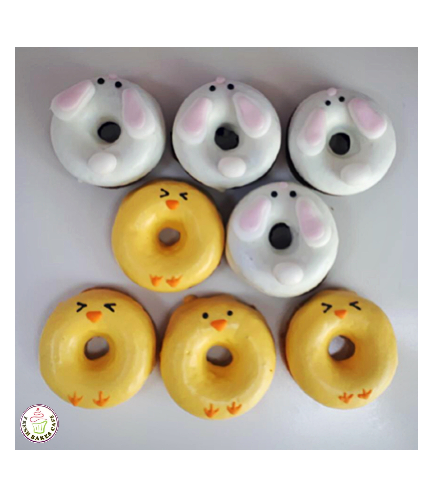 Easter Themed Donuts - Rabbits & Chicks