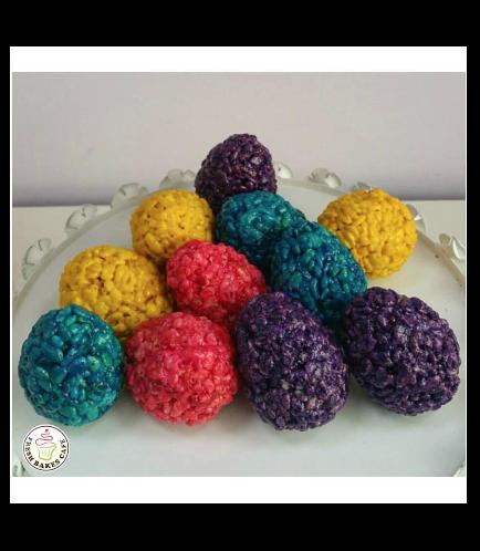 Easter Egg Themed Krispie Treats - Eggs
