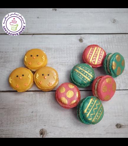 Easter Themed Macarons - Easter Eggs & Chicks