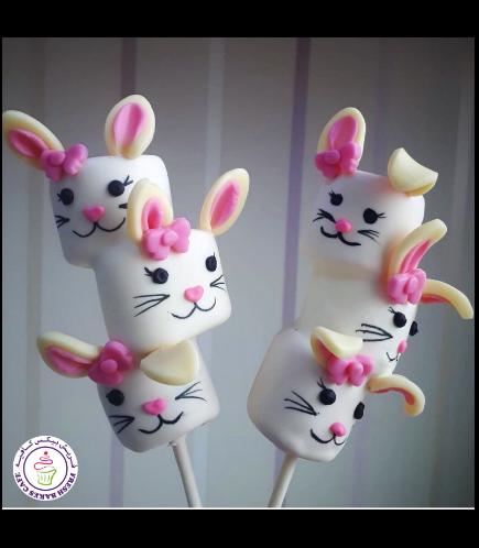 Easter Themed Marshmallow Pops - Rabbits 02