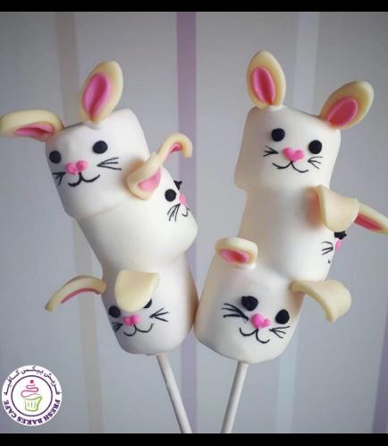 Easter Themed Marshmallow Pops - Rabbits 01
