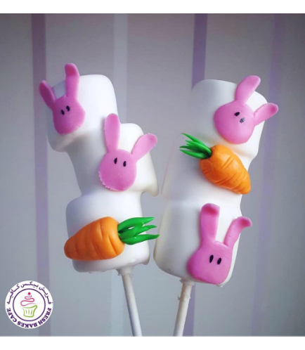Easter Themed Marshmallow Pops - Rabbits & Carrots
