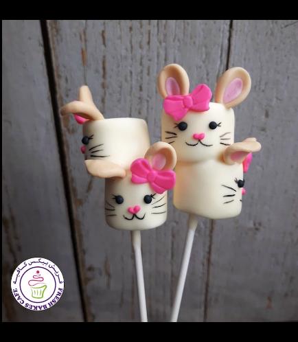 Easter Themed Marshmallow Pops - Rabbits - Girls 01