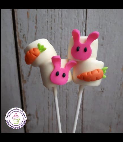 Easter Themed Marshmallow Pops - Rabbits & Carrots