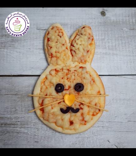 Easter Themed Pizza - Rabbit
