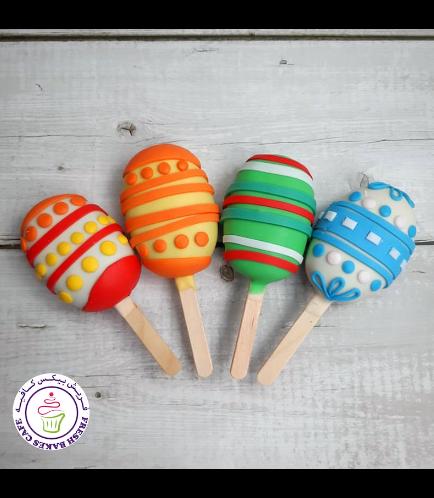 Easter Themed Popsicakes - Easter Eggs
