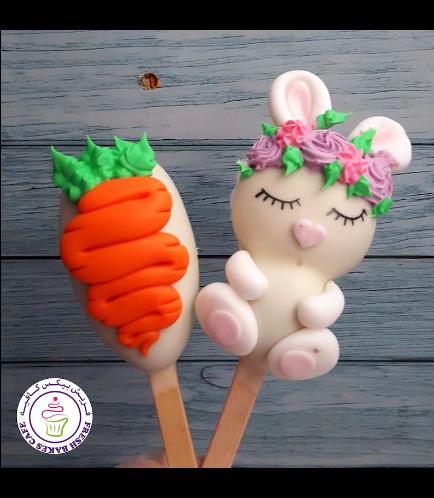 Easter Themed Popsicakes - Rabbit & Carrot