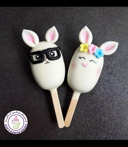 Easter Themed Popsicakes - Rabbits - Boy & Girl 02