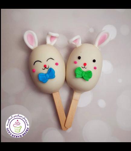 Easter Themed Popsicakes - Rabbits - Boys