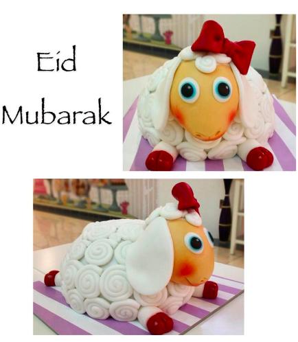 Eid Al Adha Themed Cake - Sheep - 3D Cake 01