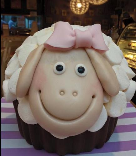 Sheep Themed Cake - Mega Cupcake