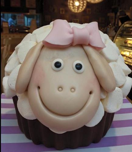 Sheep Themed Mega Cupcake