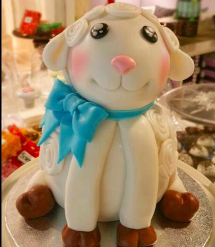 Eid Al Adha Themed Cake - Sheep - 3D Cake 02
