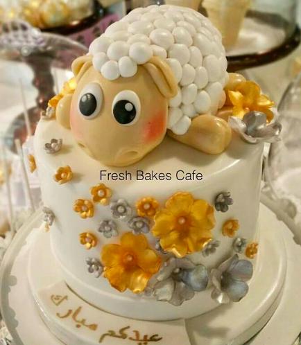 Eid Al Adha Themed Cake - Sheep - 3D Cake Topper 01