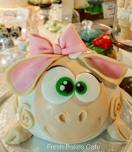 Eid Al Adha Themed Cake - Sheep - 3D Cake 03