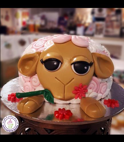 Eid Al Adha Themed Cake - Sheep - 3D Cake 05