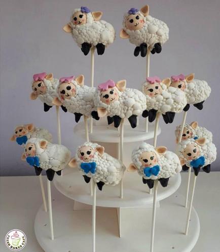 Sheep Themed Cake Pops 05