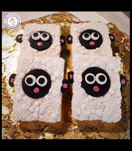 Eid Al Adha Themed Krispie Treats - Sheep