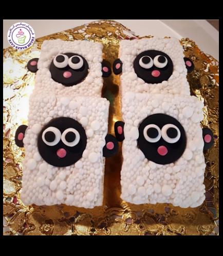 Sheep Themed Krispie Treats