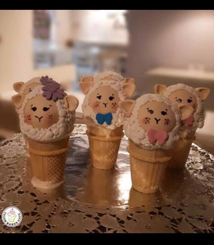Eid Al Adha Themed Cone Cake Pops - Sheep 01
