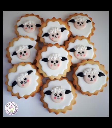 Eid Al Adha Themed Cookies - Sheep - Round 01