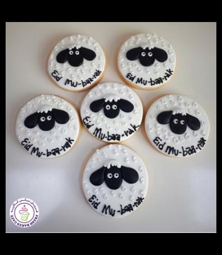 Eid Al Adha Themed Cookies - Sheep - Round 02
