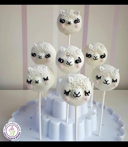Sheep Themed Donut Pops