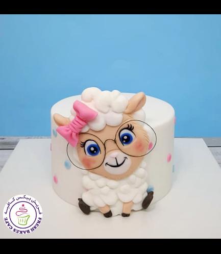 Eid Al Adha Themed Cake - Sheep - Fondant Picture 04