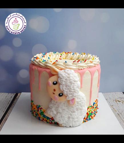 Funfetti Cake with Sheep