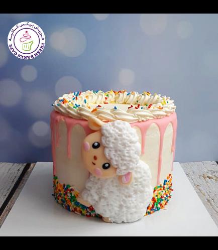 Cake - Sheep - Funfetti Cake