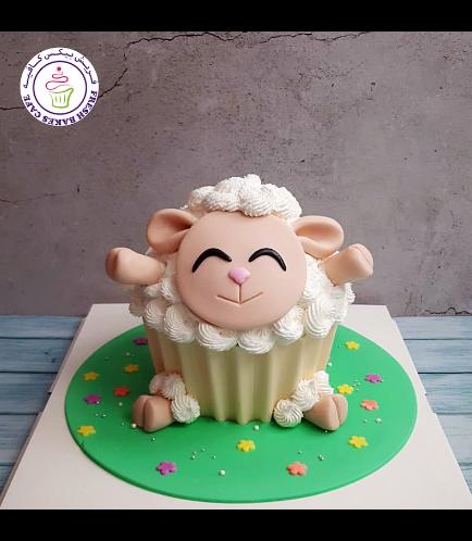 Cake - Sheep - Mega Cupcake