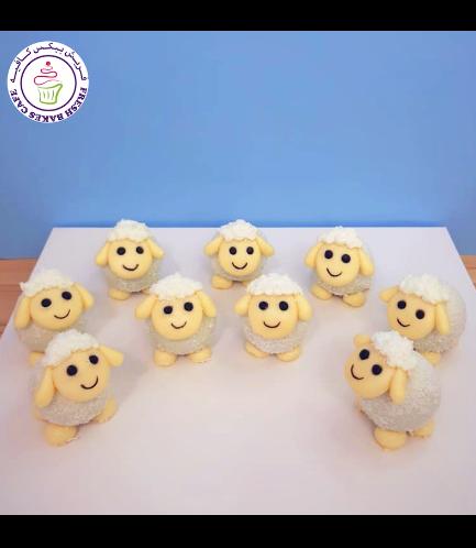 Sheep Themed Cake Pops w/o Sticks 05