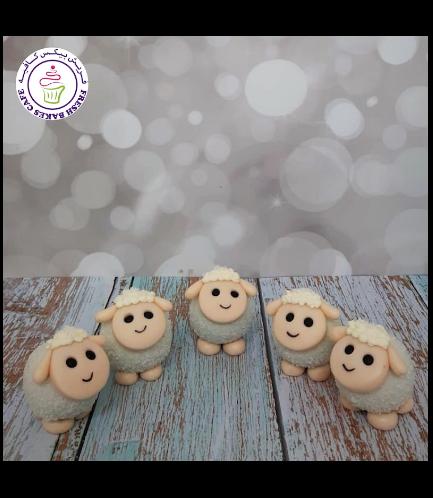Eid Al Adha Themed Cake Pops w/o Sticks - Sheep 05