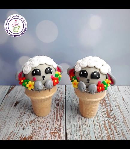 Cone Cake Pops - Sheep - Grey