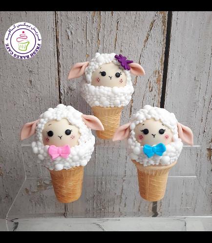 Cone Cake Pops - Sheep 01