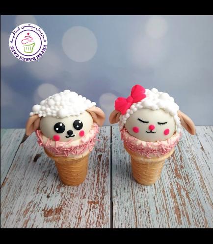 Cone Cake Pops - Sheep 02