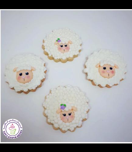 Eid Al Adha Themed Cookies - Sheep - Round 03