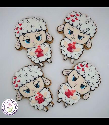 Eid Al Adha Themed Cookies - Sheep & Cupcake