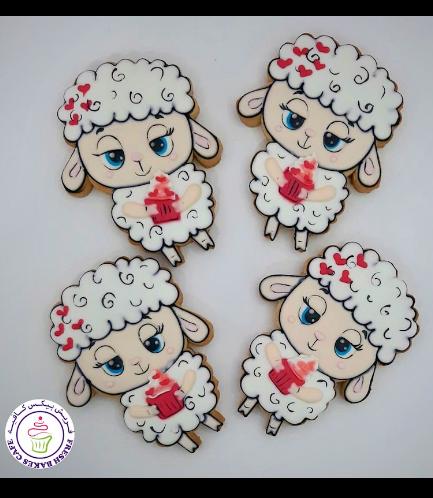 Sheep Themed Cookies - Sheep & Cupcake