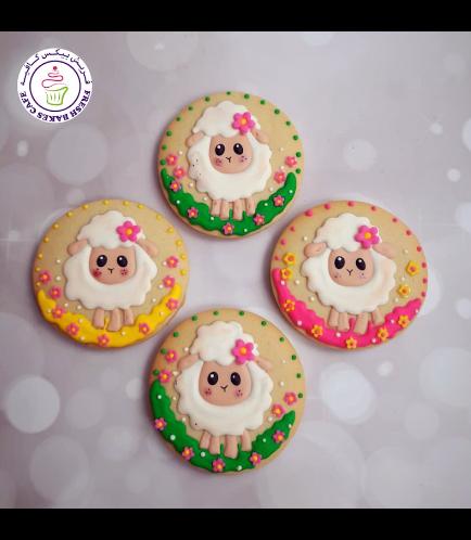 Cookies - Sheep & Flowers 02
